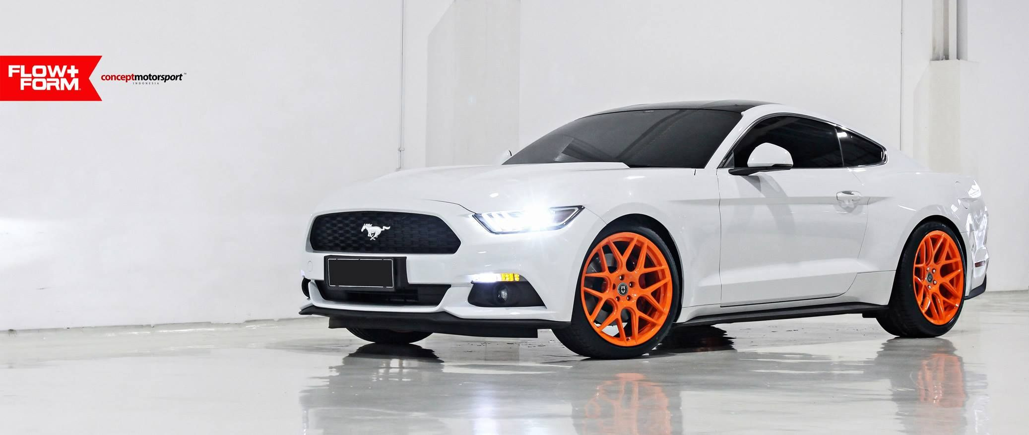 Ford mustang on hre performance wheels in racer orange https www