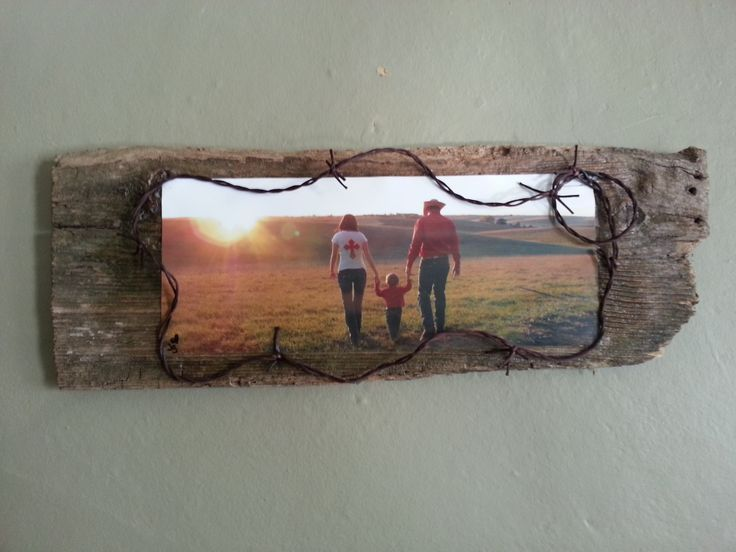Barnwood Craft Ideas - Mod Podge photo on old barn wood.