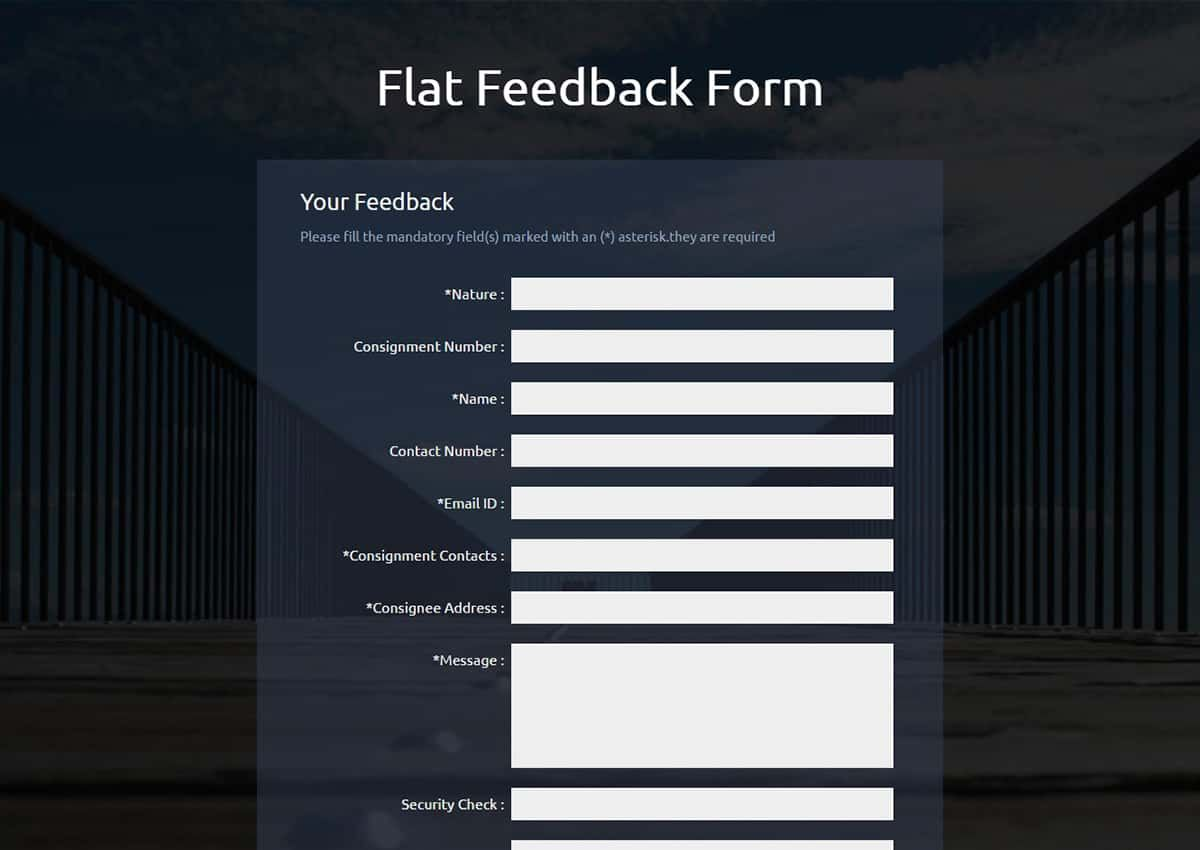 FLAT FEEDBACK FORM – A Flat Responsive Widget Template... | KiHaRa ...
