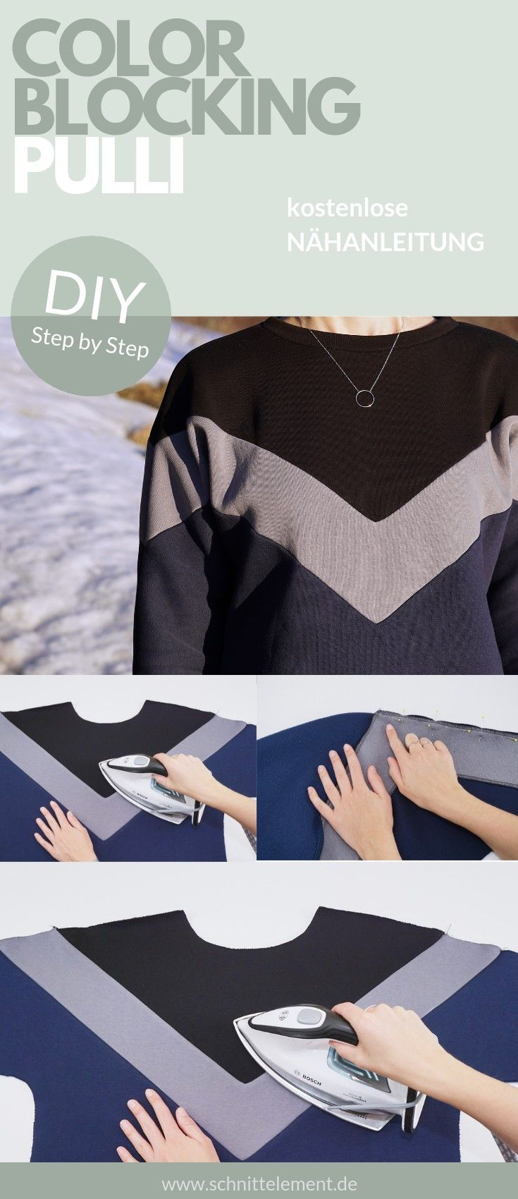 Photo of DIY Color Blocking Pullover