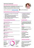 Modele De Cv Design Par Competences Format Word Entretien Embauche Modele De Cv Design Lettre De Motivation