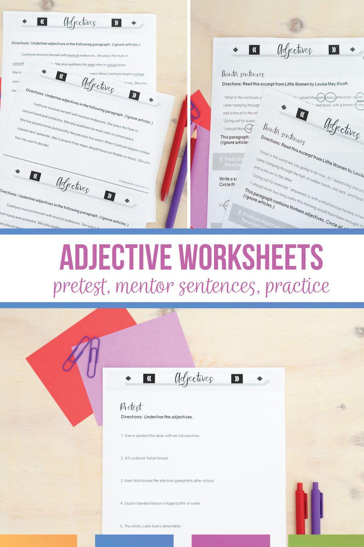 Adjective Worksheets Digital Print Grammar Worksheets In 2021 Middle School Language Arts Lessons Middle School English Classroom Grammar Activities Middle School [ 1500 x 1000 Pixel ]