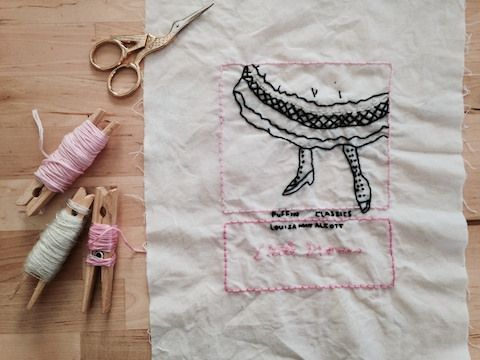 Little Women Embroidery by porcupine stew on Flickr.