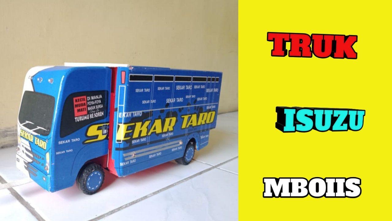 Sekarang Miniatur Truk Sekar Taro Full Lampuan Miniatur Stiker Truk