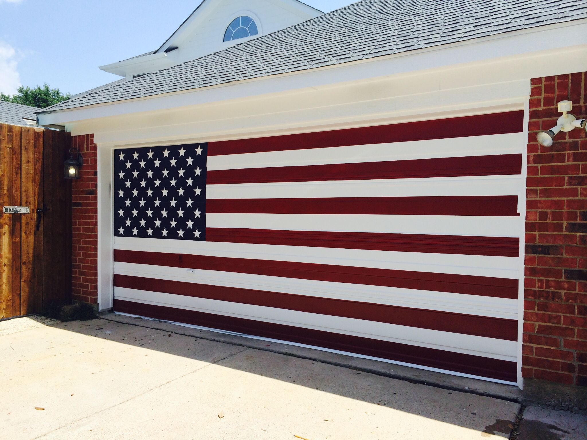 Patriotic Garage Door American Flag Backyard Projects Garage Doors Outdoor Decor