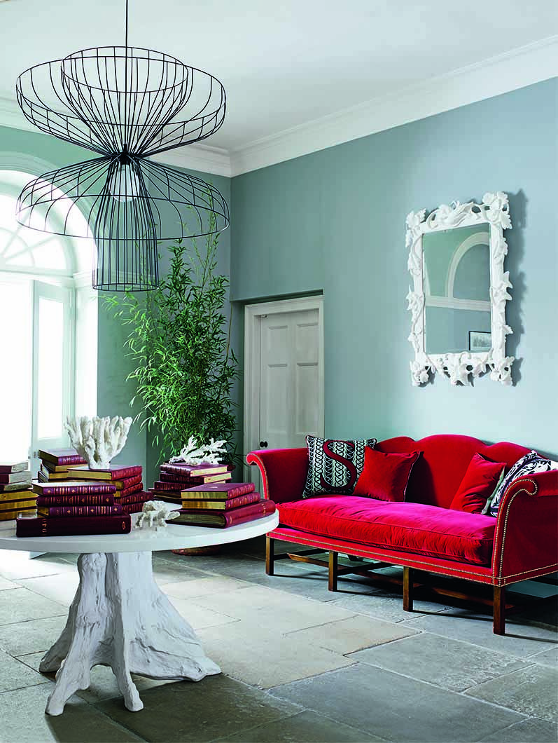 Choosing a camel backed sofa is a traditional choice but - Traditional red living room ideas ...