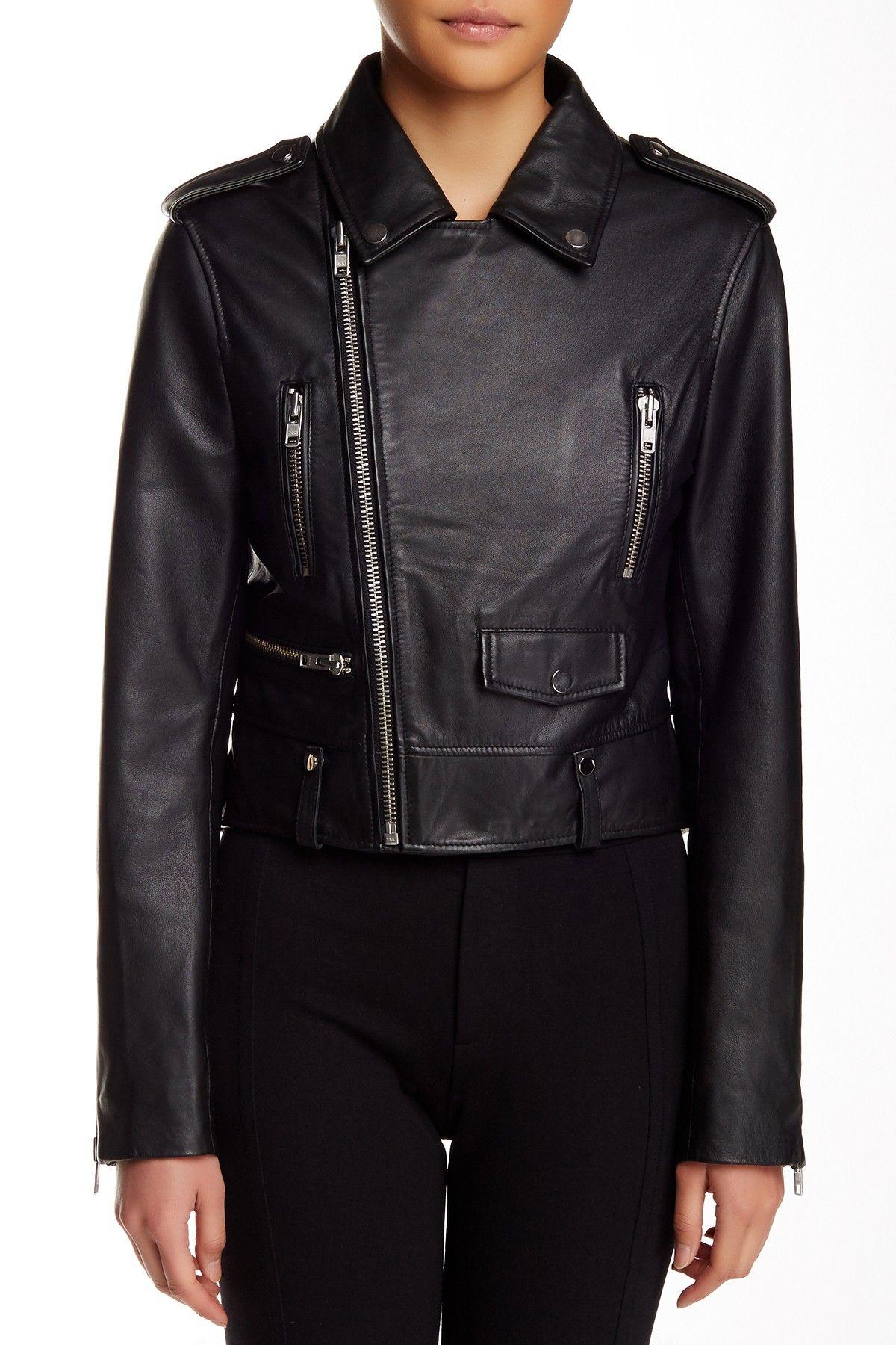 W118 by Walter Baker Hannah Lamb Leather Jacket