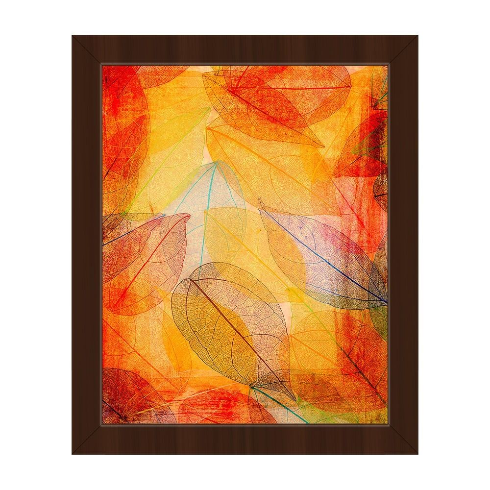 Horizon Abstract Veins\' Espress-finished Plastic-framed Canvas Wall ...