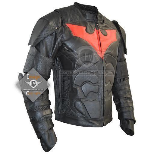 Batman Beyond Leather Jacket Costume Motorcycle Armor