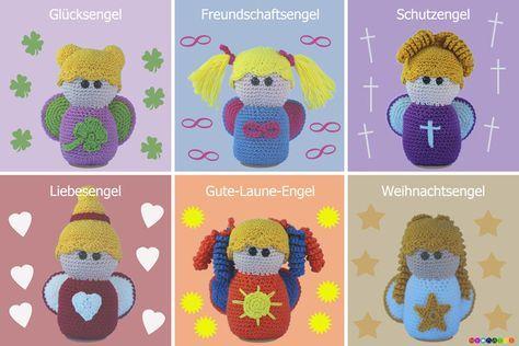 6 Engel Häkeln Schutz Liebe Glück Made By Mybatzi Via