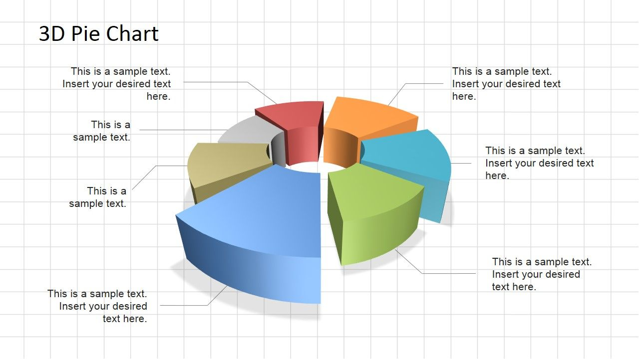 D Pie Chart Diagram For Powerpoint  Pie Charts And Diagram