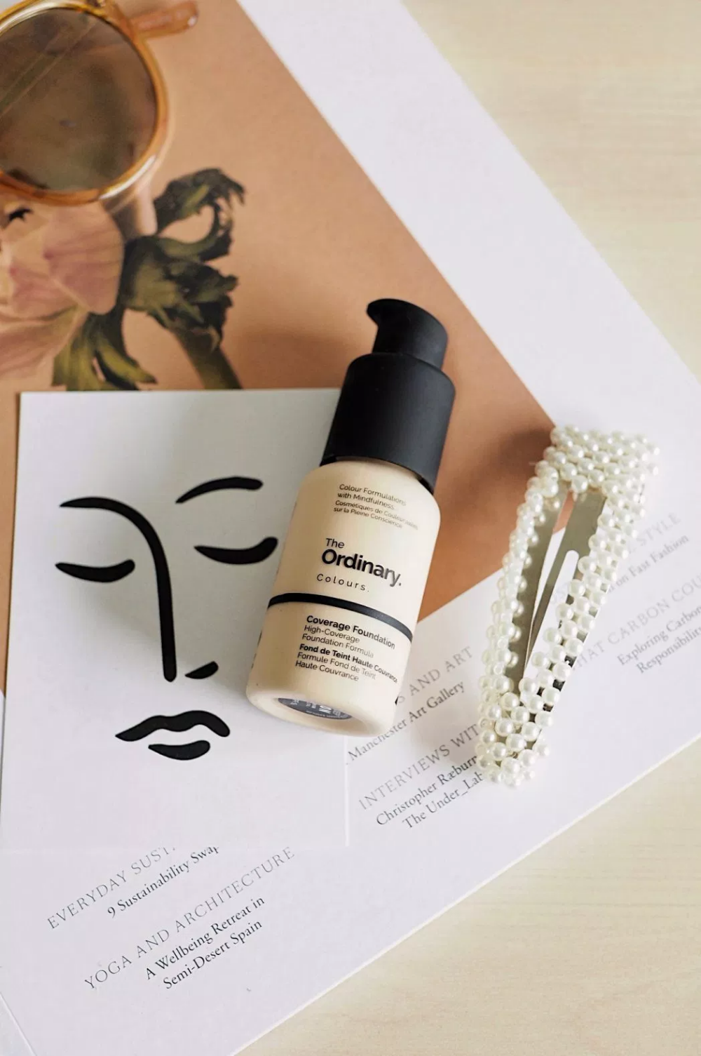 The Most Hyped Foundation Ever Flat lay photography, The
