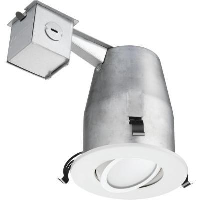 Lithonia Lighting 4 In. Recessed White Gimbal LED Down Lighting Kit LK4GMW  LED