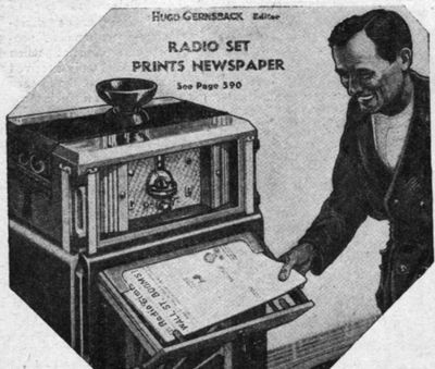 In 1938 radio stations tried to get into the newspaper business with in-home newspaper printers.   Great. And now we have ... fewer readers!