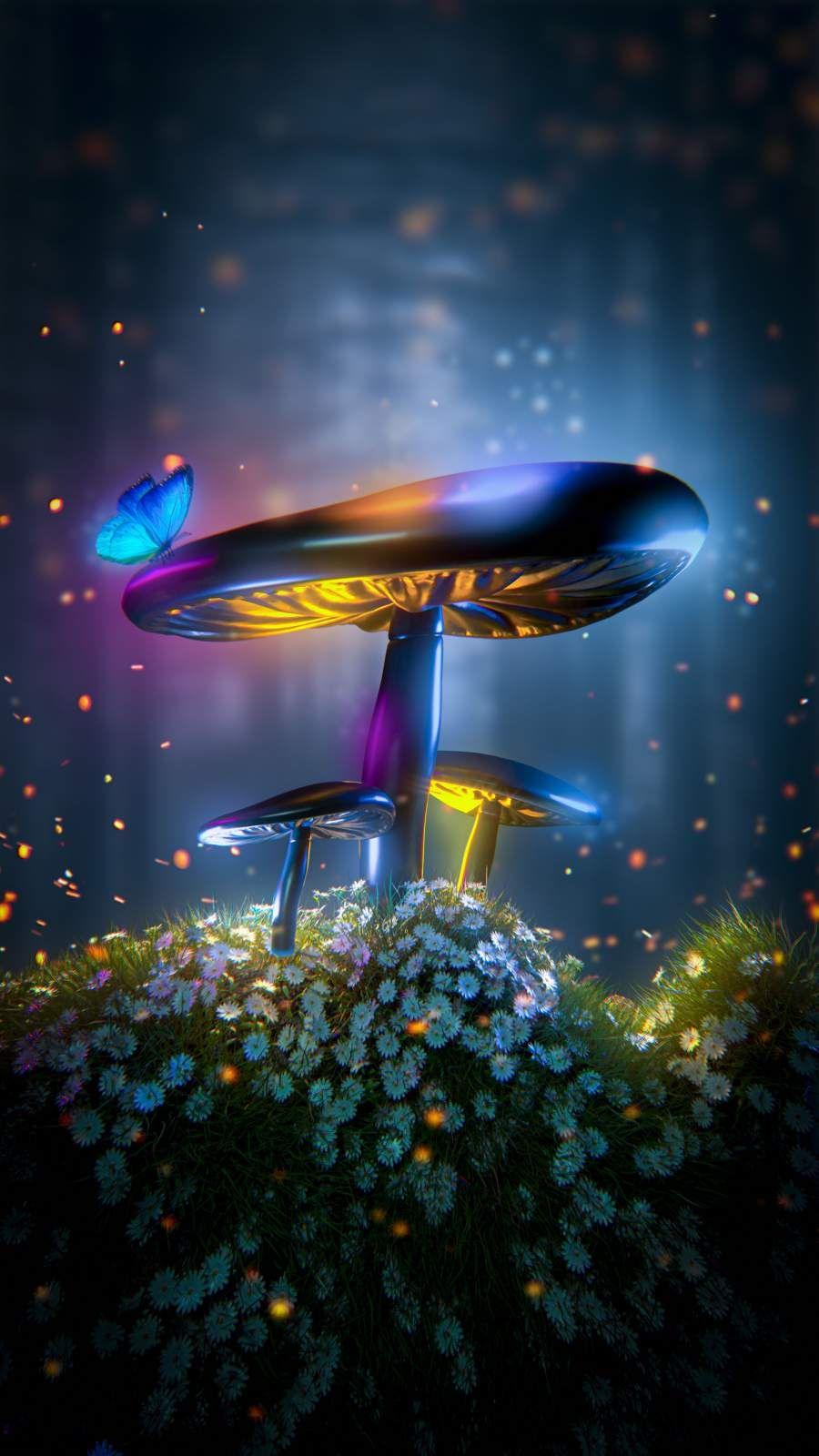 Magic Mushrooms - iPhone Wallpapers
