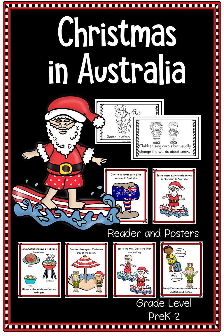 In Australia At Christmas Time You Will Find Santa Delicious Treats Decorated Houses And Christmas In Australia Christmas Teaching Resources Holiday Lessons