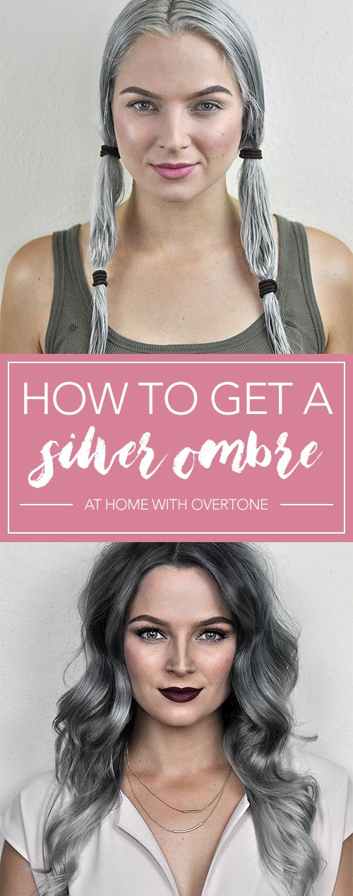 Silver Ombre Hair Dye Tutorial With Overtone Hair Color