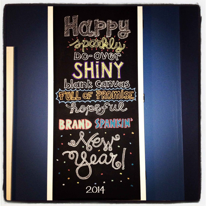 Happy New Year chalkboard wall | Chalkboard art ...