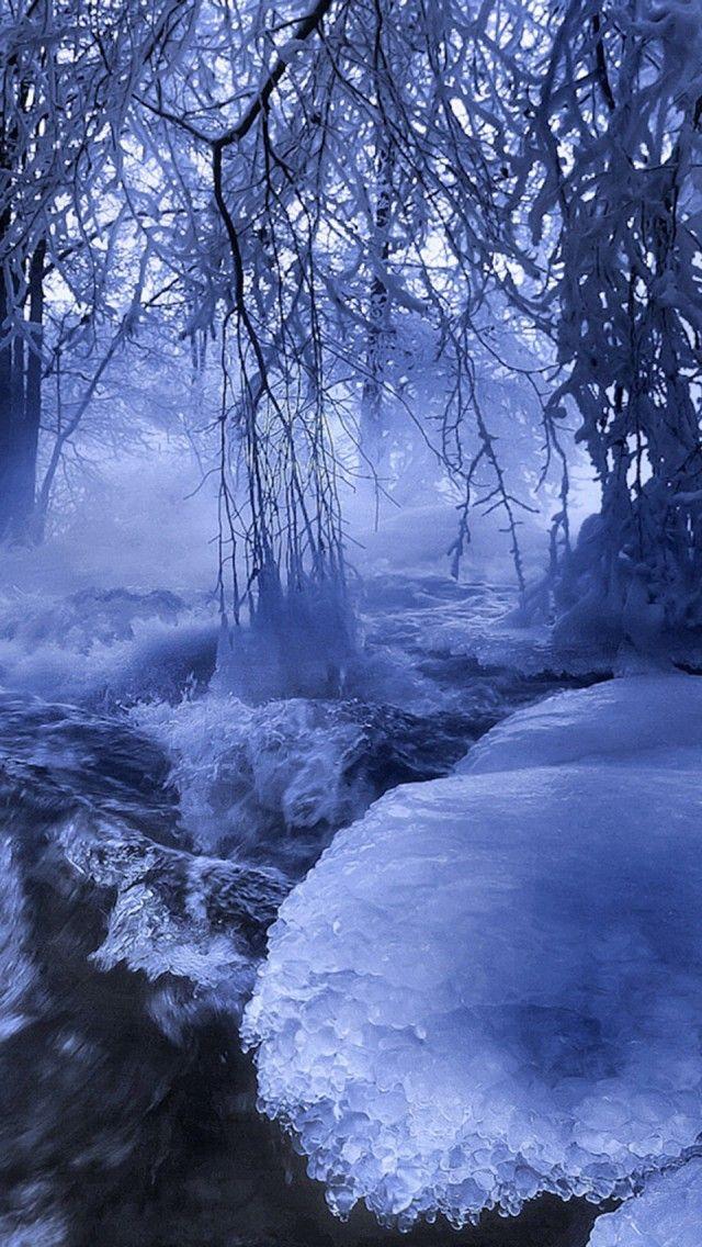 Winter, River Wallpaper /