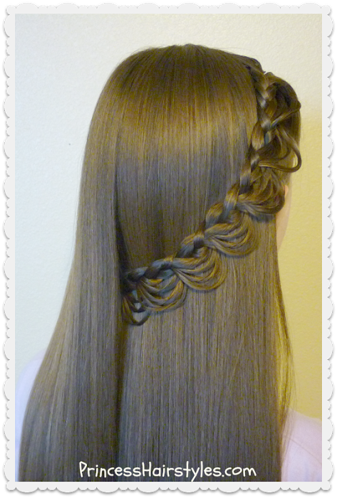 Princess Hairstyles Homecoming Hairstyles Flower Pull Through Side Braid  Princess