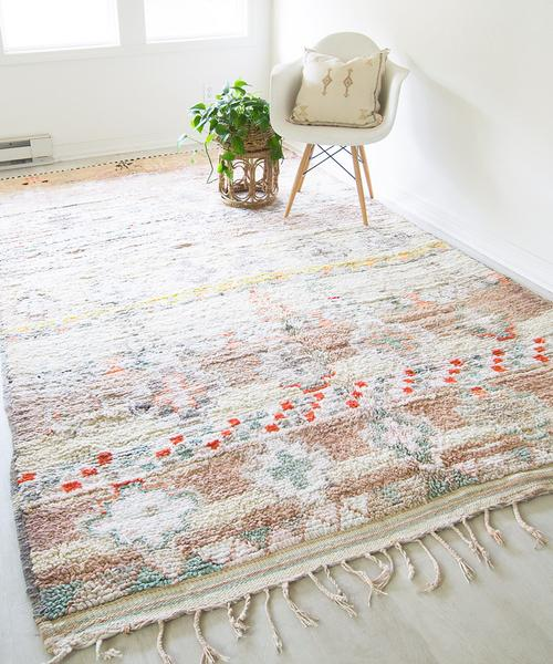 Vintage Moroccan Rug Colorful