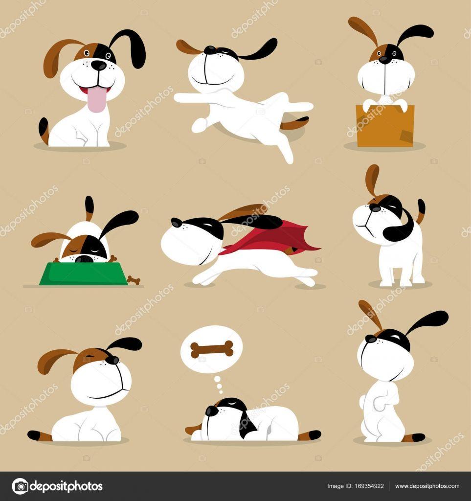 다운로드 재미 있는 벡터 강아지 일러스트 — 스톡 일러스트 2019 만화 개, 일러스트레이션