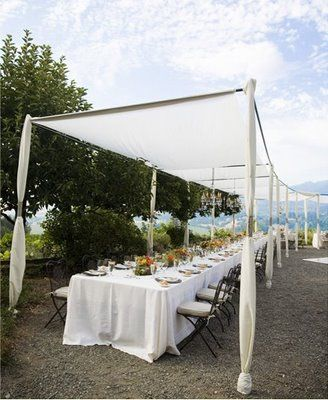 Wedding canopy tent for dining reception shade & What a fabulous airy - open u0026 natural setting with anu0027Oh God ...