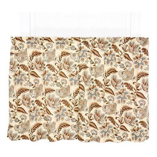 Valerie Linen 68 x 24-Inch Tailored Tier Curtain Pair 867d6fdaa2846