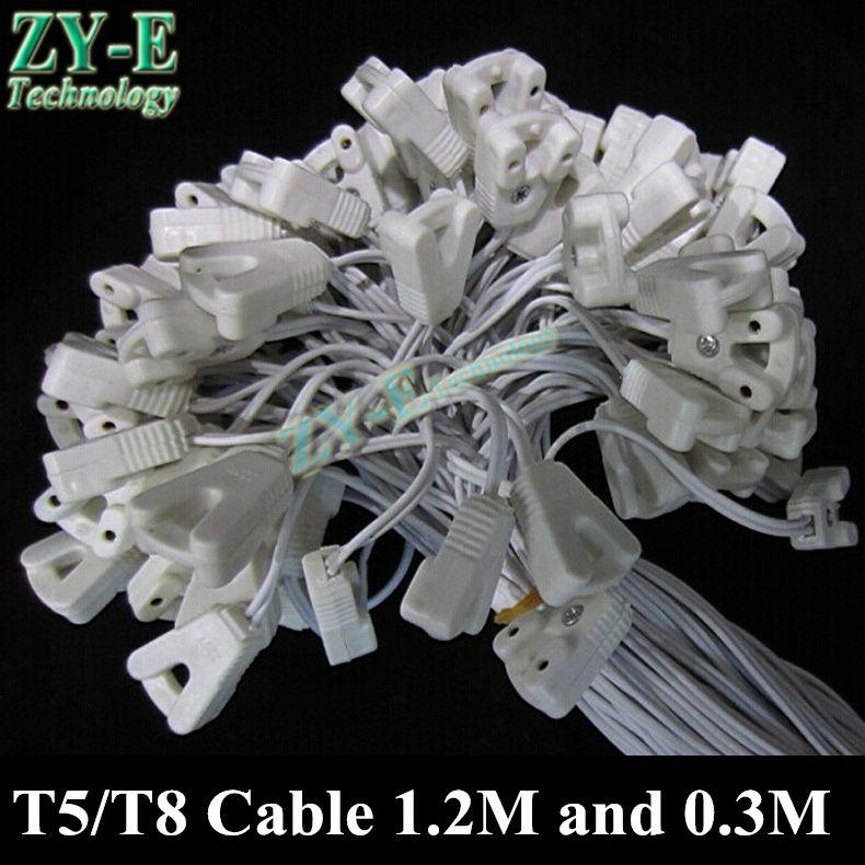 10 개/몫 T5/T8 케이블 빛 상자 와이어 형광 램프 라인 조명 튜브 키트 램프 자료 케이블 피팅 액세서리 커넥터