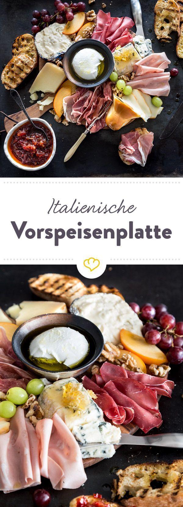 Oh, bella bellissima! - Italienische Vorspeisenplatte #appetizersforparty