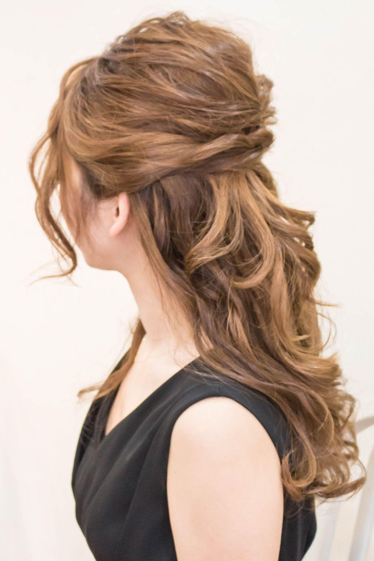 ふわっとルーズなハーフアップ|hair coucouのヘアスタイル