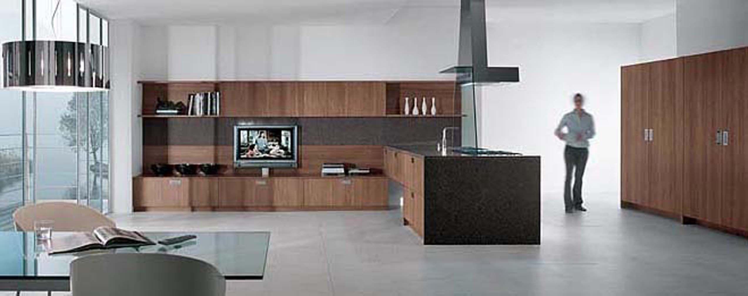 Linea quattro cuisine en bois massif et plaqu cuisines bois cuisine bois caisson et tv - Linea cuisine ...