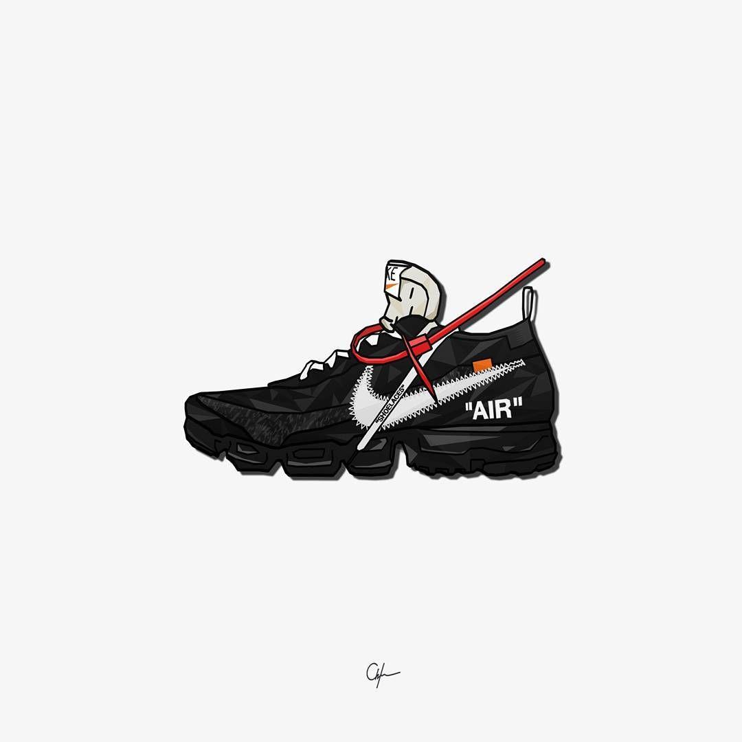 OffWhite Nike Vapormax Cartoon Art A4 Print Sneakers Jordan Off White