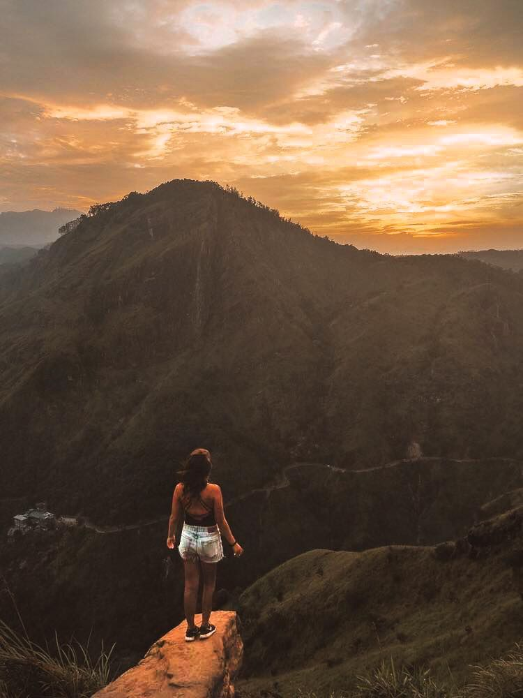 4797f26c3326a Enjoying the sunset at Little Adam´s Peak next to Ella in Sri Lanka.  Wanderlust Instagram  small.lena  srilankatravel