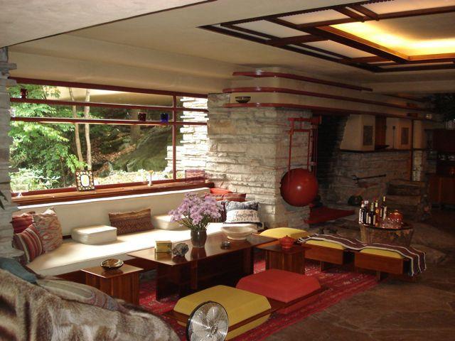 35 Fabulous Living Rooms Decoholic Fallingwater Interior Home Design Living Room House Design