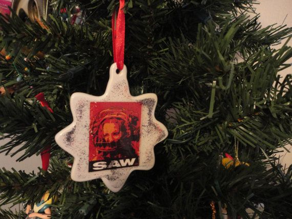 Horror Christmas Ornaments.2 Sided Saw Movie Horror Christmas Ornament Amanda Trap I