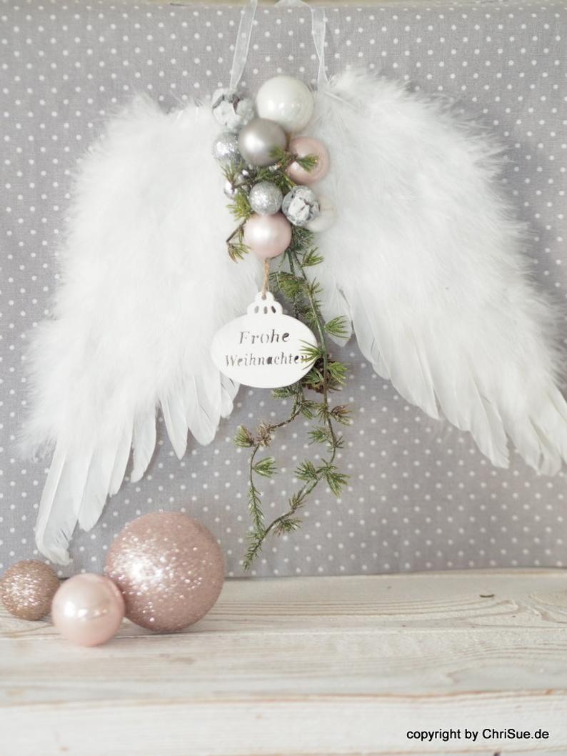 Türkranz Engelflügel #weihnachtsdekoimglasmitkugeln