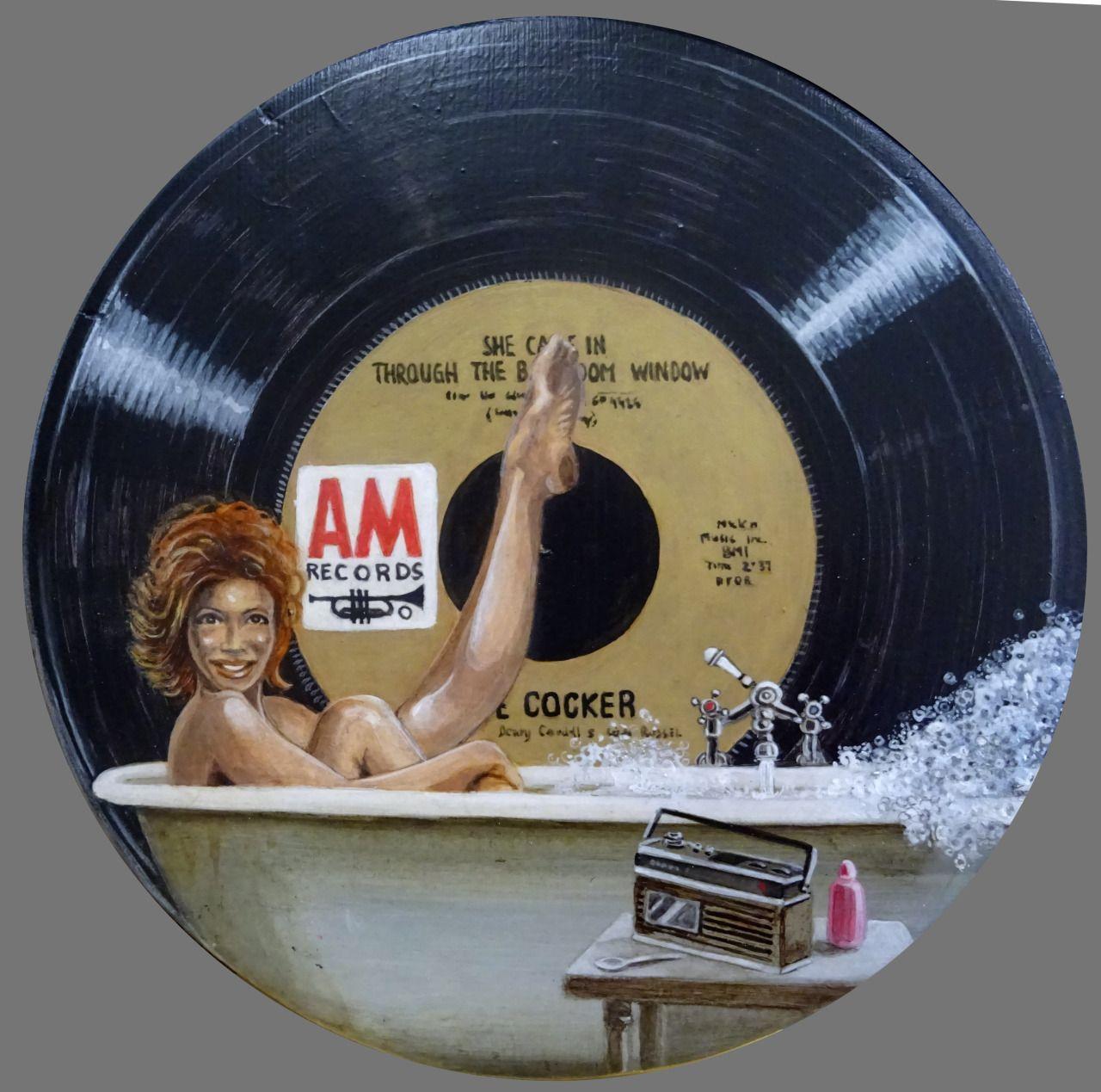 Vinylespassion Joe Cocker She Came In Through The Bathroom Window In February Vinyl Art Par Jacques Pui Vinyl Record Art Vintage Vinyl Records Vinyl Art