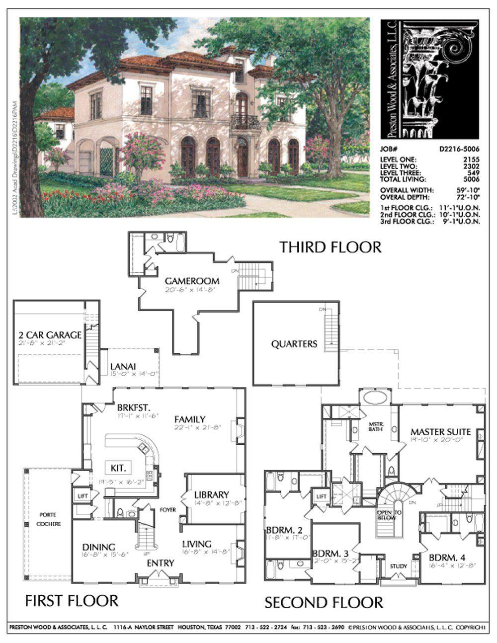 2 1 2 Story Urban Home Plan Ad2216 Mediterranean House Plans Mediterranean House Plans Spanish Style Sims House Plans