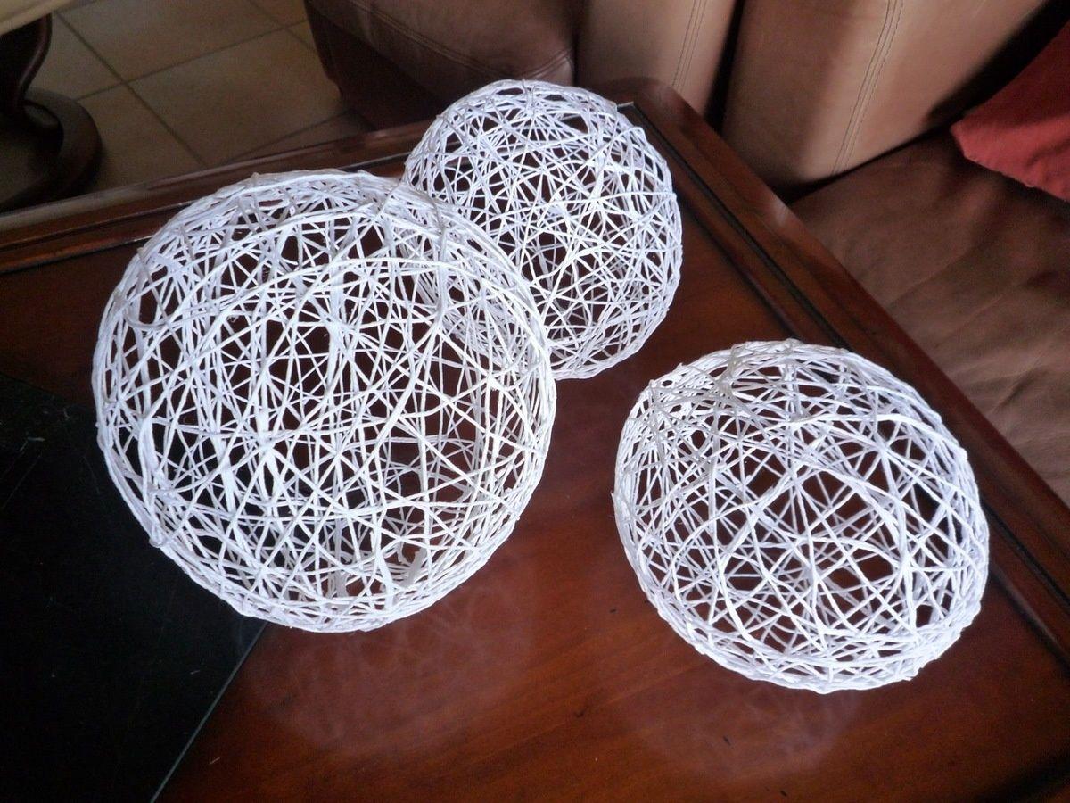 diy boules en ficelle d co no l pinterest boule ficelle et noel. Black Bedroom Furniture Sets. Home Design Ideas