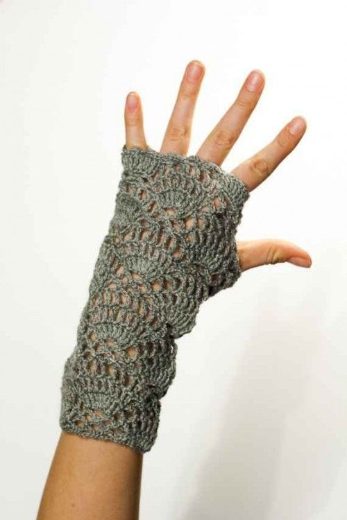 Etsy Crochet: Fingerless Gloves Pattern | Guantes, Mitones y Tejido