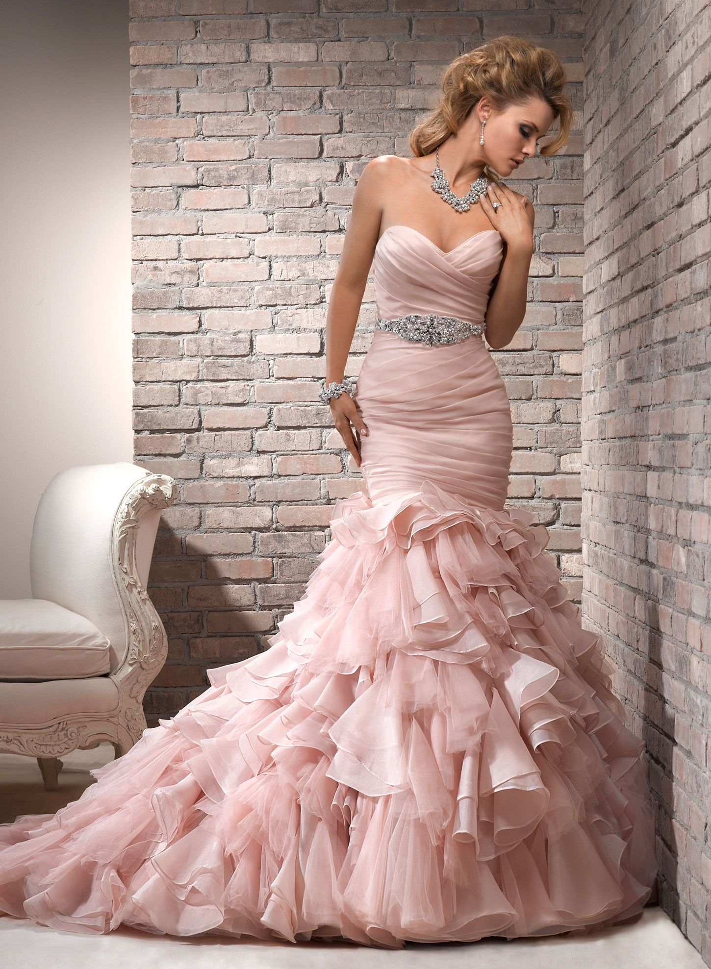 Divina by maggie sottero pink wedding dresses wedding