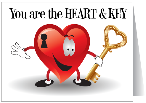 houston real estate heart of our business valentine card - Valentine Real Estate