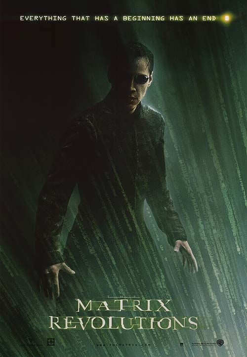 MATRIX REVOLUTIONS POSTER ] | Science fiction movie posters ...