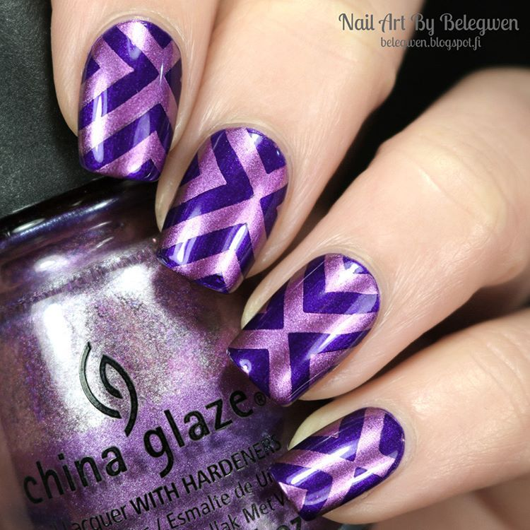 loreal 609 with #chinaglaze Harmony. Stamping plate is #moyoulondon ...