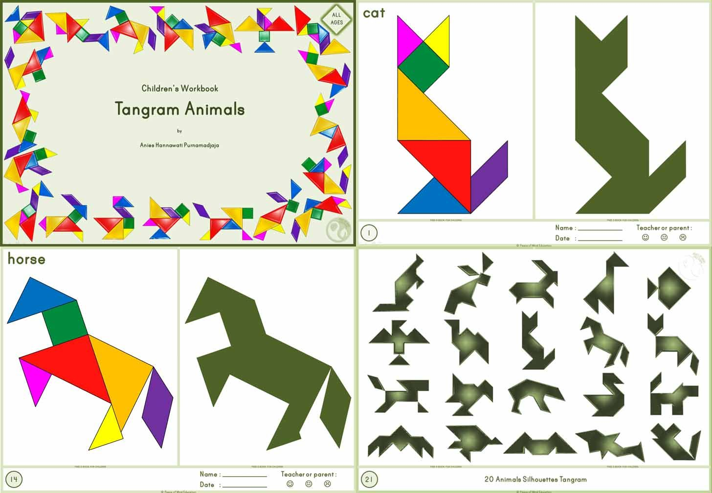 002 Tangram Animals All Ages
