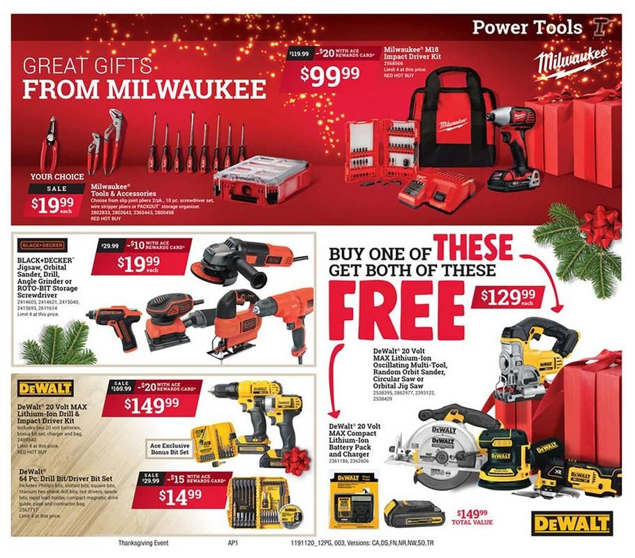 Ace Hardware Black Friday Ad Scan Deals And Sales 2019 Milwaukee Impact Driver Black Friday Black Friday Ads
