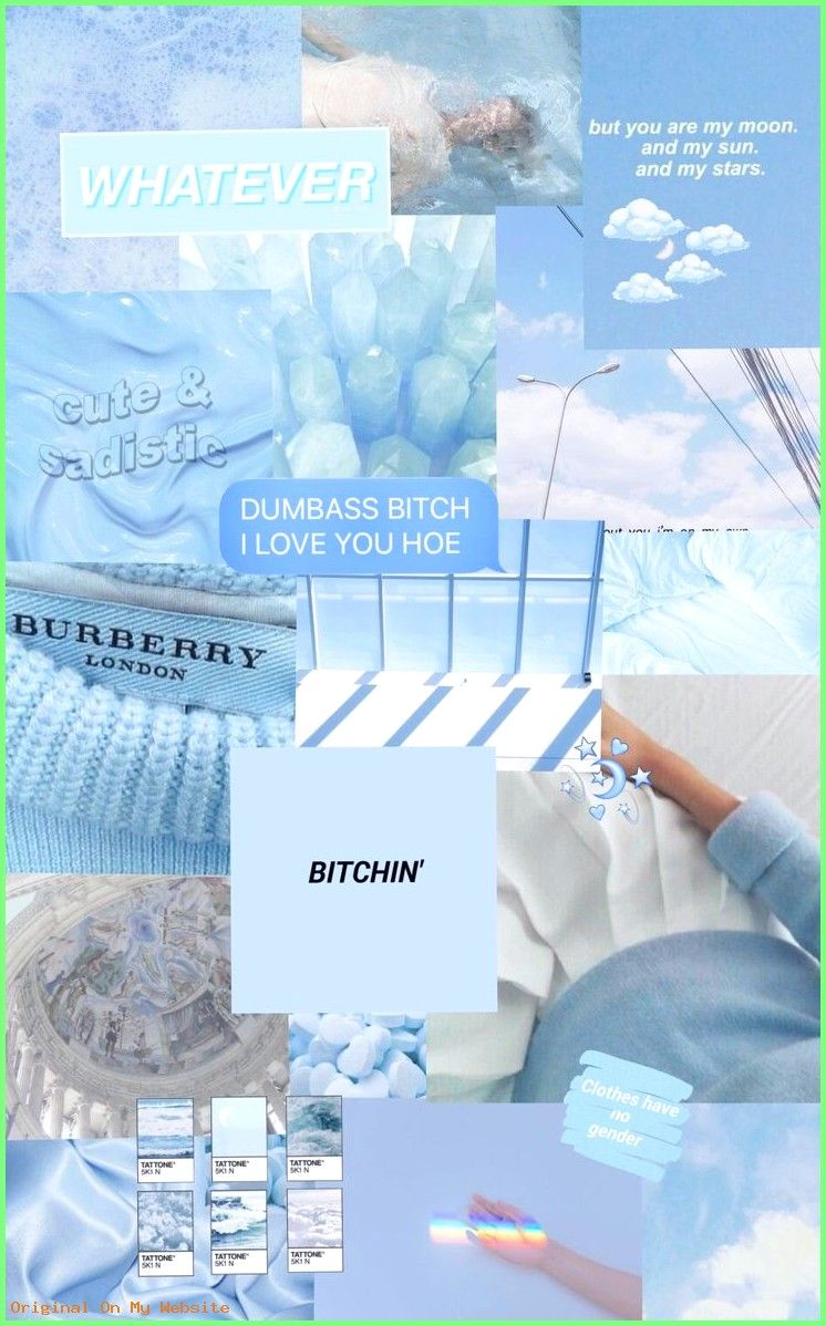 Wallpaper Tumblr Collage Blue Aesthetic Pastel Aesthetic