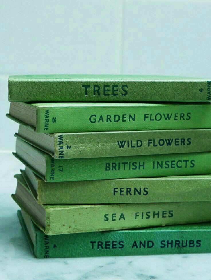 observers book collection via perfectly imperfect living - Books About The Color Green
