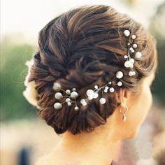 Brautschmuck haare blumen perlen  6 Stk. Perlen Strass Hochzeit Brautschmuck Braut Haarschmuck ...